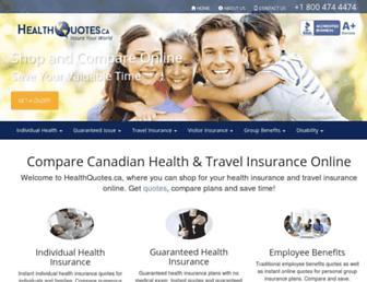 healthquotes.ca screenshot