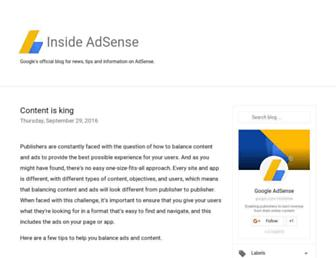adsense.googleblog.com screenshot