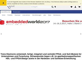 shop.trenz-electronic.de screenshot