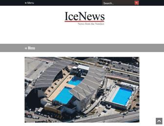 Main page screenshot of icenews.is