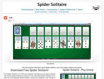 solitaire-spider.com screenshot