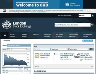 Thumbshot of Londonstockexchange.com