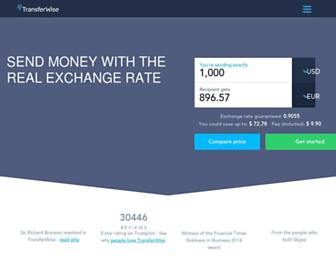 transferwise.com screenshot
