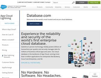 Screenshot for database.com
