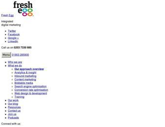 freshegg.co.uk screenshot