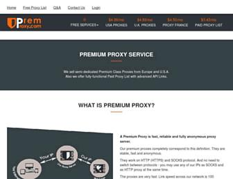 premproxy.com screenshot