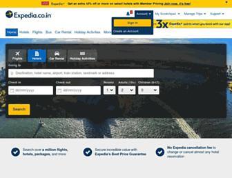 expedia.co.in screenshot