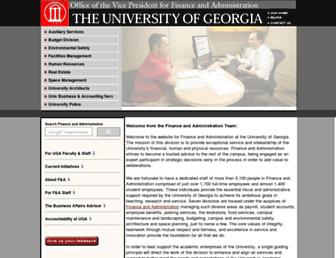 busfin.uga.edu screenshot