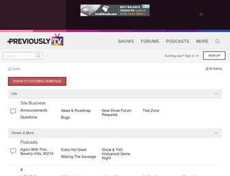 forums.previously.tv screenshot