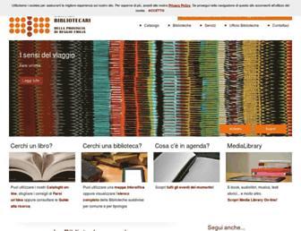 Main page screenshot of biblioteche.provincia.re.it