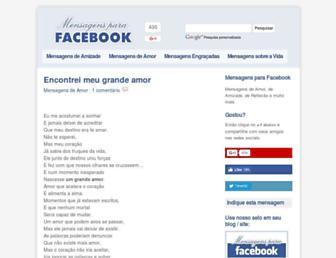 Thumbshot of Mensagensparafacebook.com.br