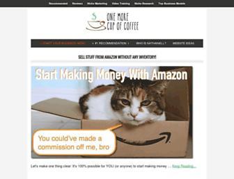 onemorecupof-coffee.com screenshot