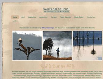 sahyadrischool.org screenshot