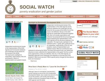 socialwatch.org screenshot