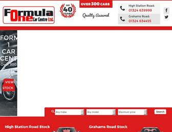 Main page screenshot of formula1carcentre.co.uk