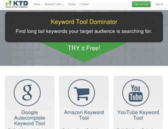 keywordtooldominator.com screenshot