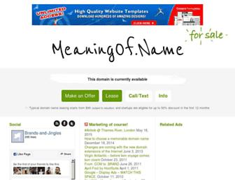 Main page screenshot of meaningof.name
