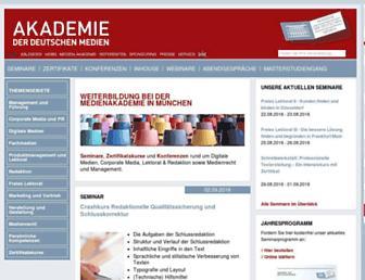 medien-akademie.de screenshot