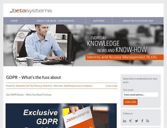 blog.betasystems-iam.com screenshot