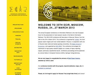 Thumbshot of Ecir2013.org