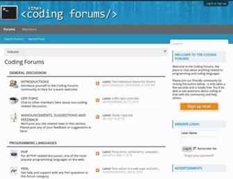 thecodingforums.com screenshot