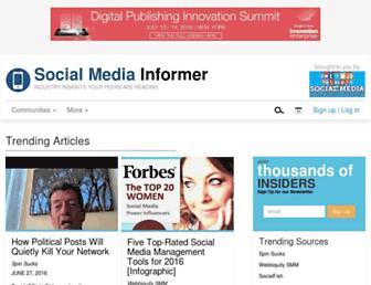 socialmediainformer.com screenshot