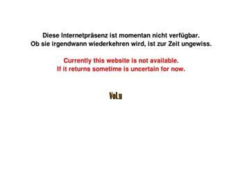 Main page screenshot of volu.de