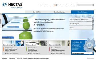 Main page screenshot of hectas.de