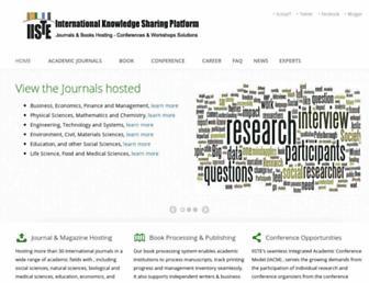 iiste.org screenshot