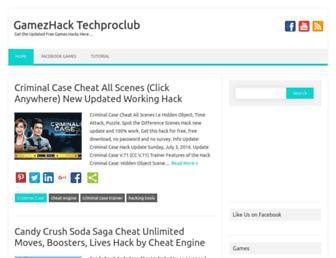 gamezhack.techproclub.com screenshot