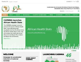 Main page screenshot of carmma.org
