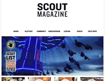 Main page screenshot of scoutmagazine.ca