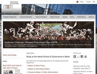 hertie-school.org screenshot