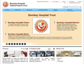 bombayhospital.com screenshot