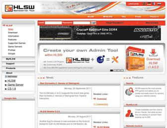 Main page screenshot of hlsw.org
