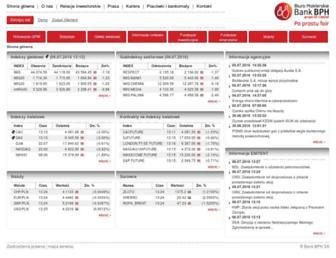 Main page screenshot of rynek.bph.pl
