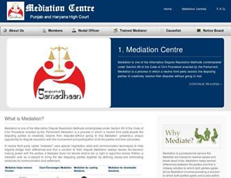 mediationcentrephhc.gov.in screenshot