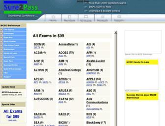 sure2pass.com screenshot