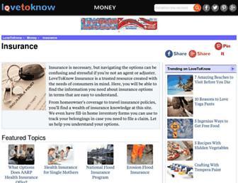 insurance.lovetoknow.com screenshot