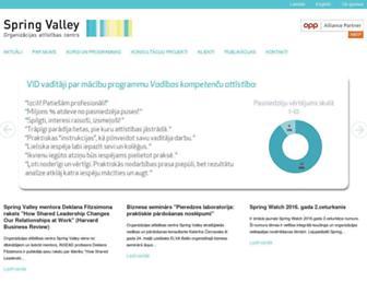 Main page screenshot of springvalley.lv