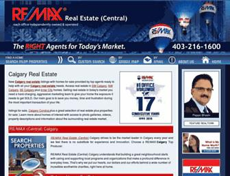 remaxcentral.ab.ca screenshot