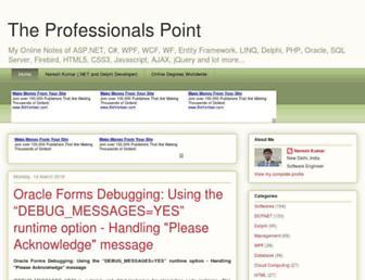 theprofessionalspoint.blogspot.com screenshot