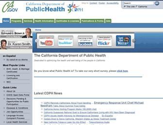 cdph.ca.gov screenshot