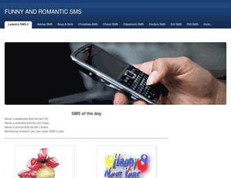 funnyromanticsms.weebly.com screenshot