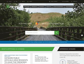 hayward-ca.gov screenshot