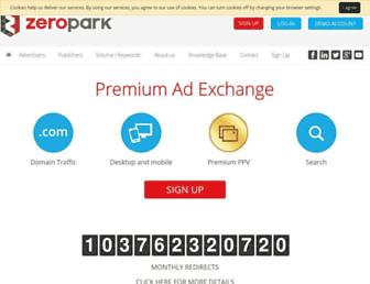 zeropark.com screenshot