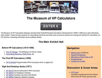 hpmuseum.org screenshot