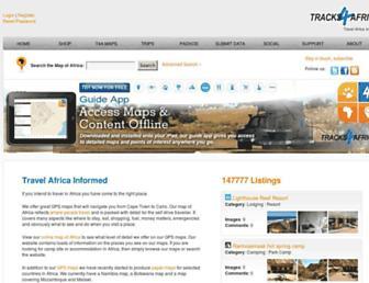 tracks4africa.co.za screenshot
