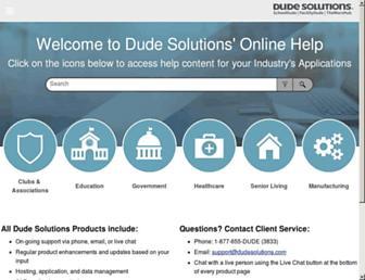 help.dudesolutions.com screenshot