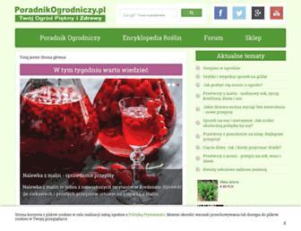 Main page screenshot of poradnikogrodniczy.pl